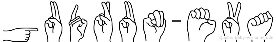 Gudrun-Eva im Fingeralphabet der Deutschen Gebärdensprache