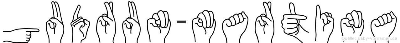 Gudrun-Martina im Fingeralphabet der Deutschen Gebärdensprache