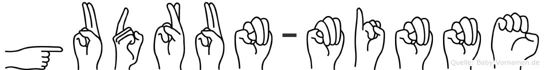 Gudrun-Minne im Fingeralphabet der Deutschen Gebärdensprache