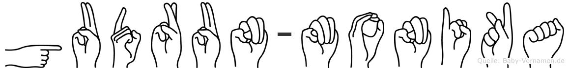 Gudrun-Monika im Fingeralphabet der Deutschen Gebärdensprache