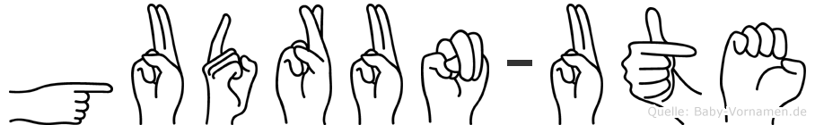 Gudrun-Ute im Fingeralphabet der Deutschen Gebärdensprache