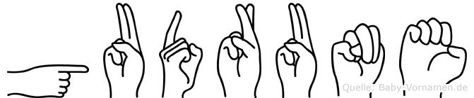 Gudrune in Fingersprache für Gehörlose