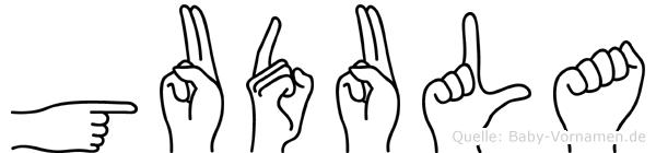 Gudula in Fingersprache für Gehörlose