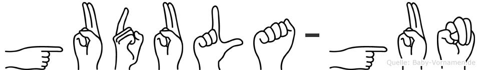 Gudula-Gun im Fingeralphabet der Deutschen Gebärdensprache