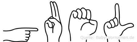 Guel in Fingersprache für Gehörlose