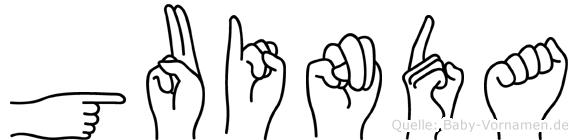 Guinda in Fingersprache für Gehörlose