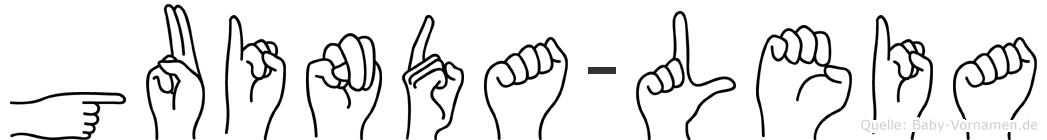 Guinda-Leia im Fingeralphabet der Deutschen Gebärdensprache