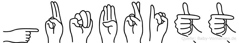Gunbritt im Fingeralphabet der Deutschen Gebärdensprache