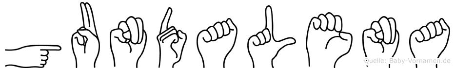 Gundalena im Fingeralphabet der Deutschen Gebärdensprache