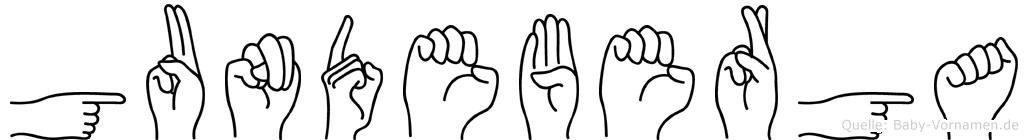 Gundeberga in Fingersprache für Gehörlose
