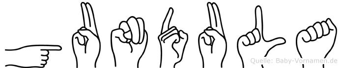 Gundula in Fingersprache für Gehörlose
