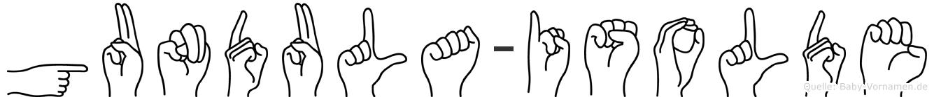 Gundula-Isolde im Fingeralphabet der Deutschen Gebärdensprache