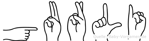 Gurli in Fingersprache für Gehörlose
