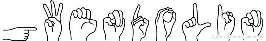 Gwendolin im Fingeralphabet der Deutschen Gebärdensprache
