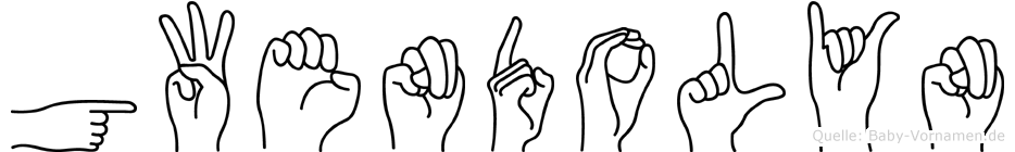 Gwendolyn im Fingeralphabet der Deutschen Gebärdensprache