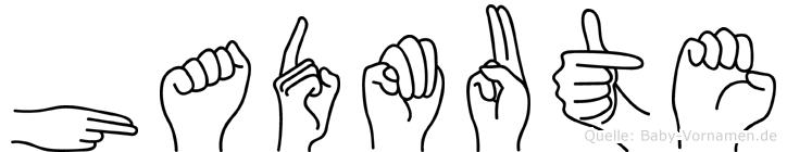 Hadmute im Fingeralphabet der Deutschen Gebärdensprache