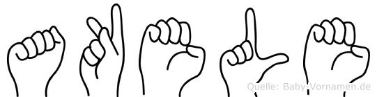 Akele im Fingeralphabet der Deutschen Gebärdensprache