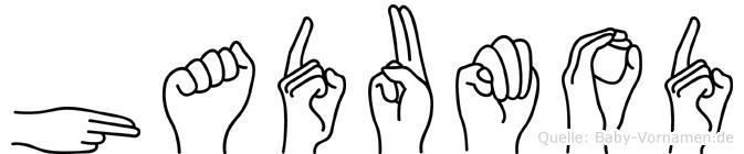 Hadumod im Fingeralphabet der Deutschen Gebärdensprache