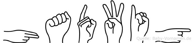Hadwig im Fingeralphabet der Deutschen Gebärdensprache