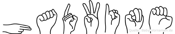 Hadwine im Fingeralphabet der Deutschen Gebärdensprache