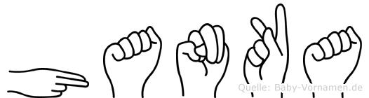 Hanka in Fingersprache für Gehörlose