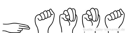 Hanna in Fingersprache für Gehörlose
