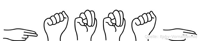 Hannah im Fingeralphabet der Deutschen Gebärdensprache
