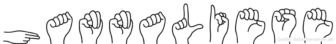 Hannaliese in Fingersprache für Gehörlose