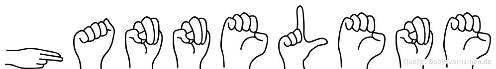 Hannelene in Fingersprache für Gehörlose