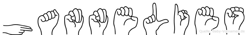 Hannelies in Fingersprache für Gehörlose