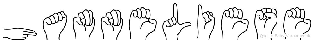Hanneliese in Fingersprache für Gehörlose