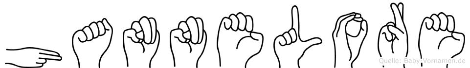 Hannelore in Fingersprache für Gehörlose