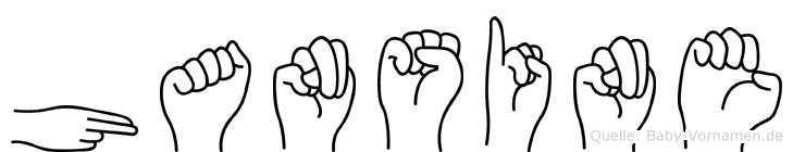 Hansine in Fingersprache für Gehörlose