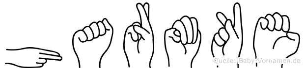 Harmke in Fingersprache für Gehörlose