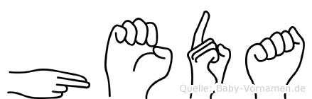 Heda in Fingersprache für Gehörlose