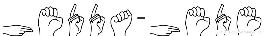 Hedda-Hede im Fingeralphabet der Deutschen Gebärdensprache