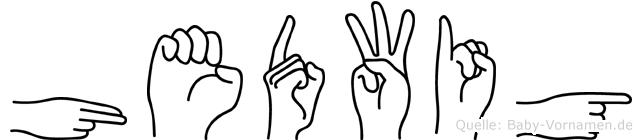 Hedwig in Fingersprache für Gehörlose