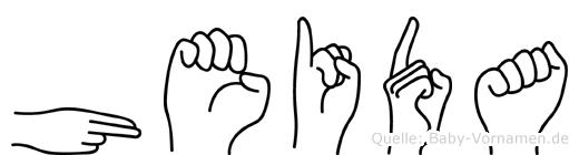 Heida im Fingeralphabet der Deutschen Gebärdensprache