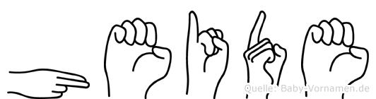 Heide im Fingeralphabet der Deutschen Gebärdensprache