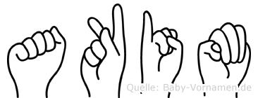 Akim im Fingeralphabet der Deutschen Gebärdensprache