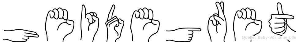 Heidegret im Fingeralphabet der Deutschen Gebärdensprache