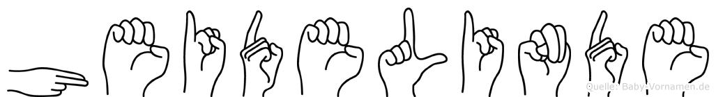 Heidelinde im Fingeralphabet der Deutschen Gebärdensprache