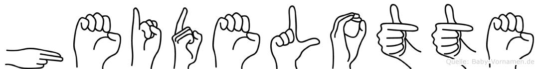 Heidelotte im Fingeralphabet der Deutschen Gebärdensprache