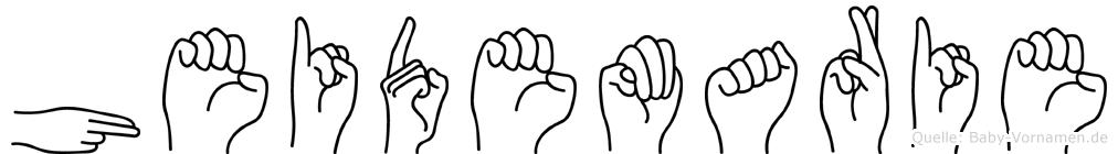 Heidemarie im Fingeralphabet der Deutschen Gebärdensprache