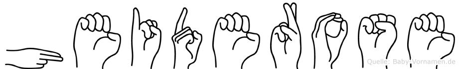 Heiderose im Fingeralphabet der Deutschen Gebärdensprache