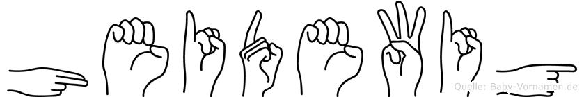Heidewig im Fingeralphabet der Deutschen Gebärdensprache