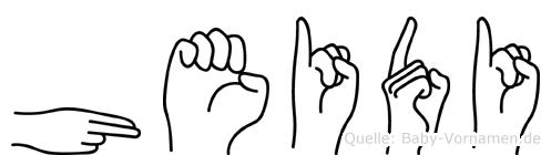 Heidi in Fingersprache für Gehörlose