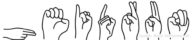 Heidrun im Fingeralphabet der Deutschen Gebärdensprache