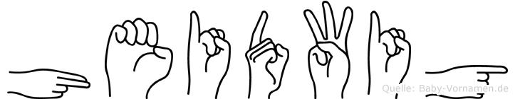 Heidwig im Fingeralphabet der Deutschen Gebärdensprache