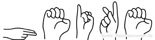 Heike in Fingersprache für Gehörlose